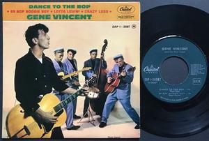 GENE VINCENT - Dance to the bop +3 Fransk EP 1962