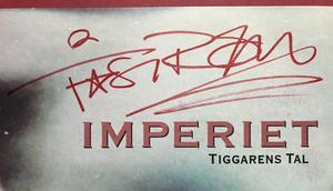 IMPERIET - Tiggarens tal / Thåström SIGNERAD LP 1988