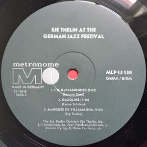 EJE THELIN - At the German Jazz Festival Ger-orig LP 1964