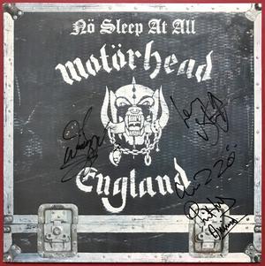 MOTÖRHEAD - No sleep at all SIGNERAD Swe-orig LP 1988