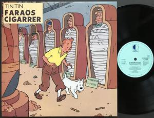 TINTIN - Faraos cigarrer Holl-orig LP 1986