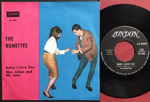 RONETTES - Baby, I love you Swe PS 1964