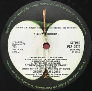 BEATLES - Yellow submarine Apple UK-orig stereo LP 1969