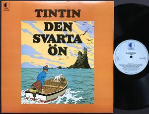 TINTIN - Den svarta ön Swe LP 1972
