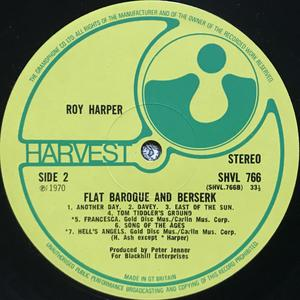 ROY HARPER - Flat baroque and berserk UK-orig LP 1970