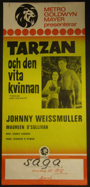 TARZAN AND HIS MATE (JOHNNY WEISSMULLER, MAUREEN O´SULLIVAN)