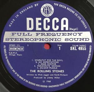 "ROLLING STONES - Beggars Banquet UK-orig ""Patents pending"" Stereo LP 1968"