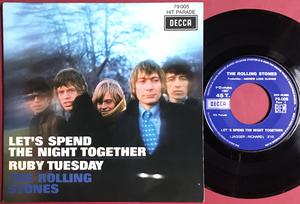 "ROLLING STONES - Let´s spend the night together France ""buttons"" PS 1967"