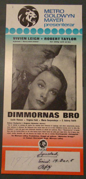 DIMMORNAS BRO (VIVIEN LEIGH, ROBERT TAYLOR)