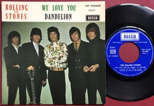 ROLLING STONES - We love you France PS 1967