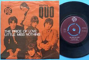 STATUS QUO - The price of love Norsk PS 1969