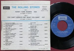 ROLLING STONES - Honky tonk women French PS 1971
