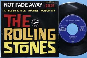 ROLLING STONES - Not fade away +3 Fransk EP 1964
