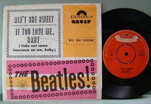 """BEATLES - Ain´t she sweet  7"""" Swe 1964"""