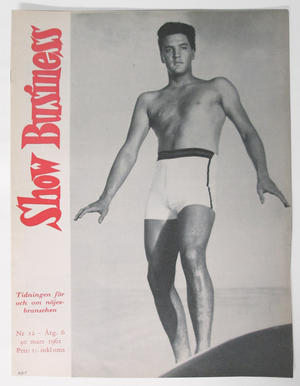 SHOW BUSINESS - 1962 nr 12 Elvis omslag