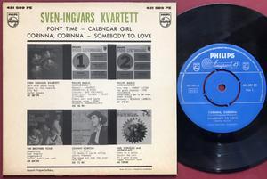 SVEN-INGVARS KVARTETT - Pony time +3 Swe EP 1961