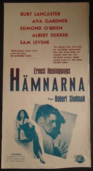 HÄMNARNA (BURT LANCASTER, AVA GARDNER)