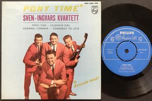 SVEN-INGVARS KVARTETT - Pony time +3 SVENSK TEXT! Swe EP 1961