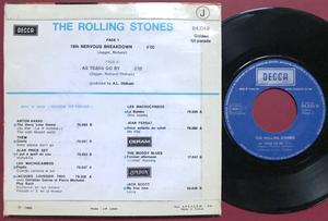 ROLLING STONES - 19th nervous breakdown Fransk PS 1970´s