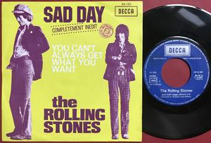 ROLLING STONES - Sad day Fransk PS 1973