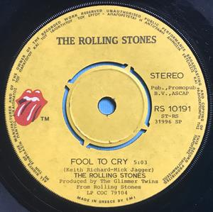 ROLLING STONES - Fool to cry GREKISK 45 1976