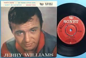 JERRY WILLIAMS & VIOLENTS - Forty days +3 Swe EP 1964