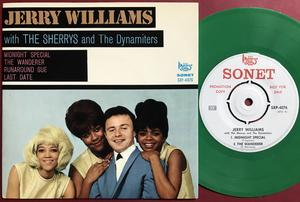 JERRY WILLIAMS with SHERRYS & DYNAMITERS - Swe PROMO EP 1966