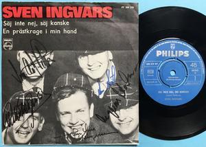 SVEN INGVARS - Säj inte nej, säj kanske Swe SIGNERAD PS 1965