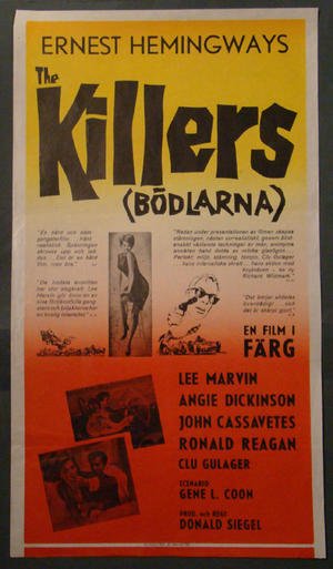 THE KILLERS (LEE MARVIN, RONALD REAGAN)