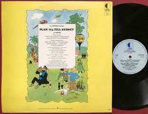 TINTIN - Plan 714 till Sydney Swe LP 1973