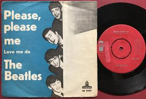 BEATLES -  Please, please me Rare RED label Swe PS 1963
