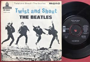 "BEATLES - Twist & shout 7"" LIGHT BLUE Swe PS 1963"