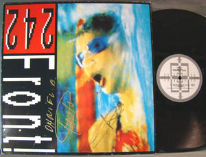 FRONT 242 Never stop Signerad LP