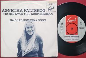 AGNETHA FÄLTSKOG - Tio mil kvar till Korpilombolo Swe PS 1972