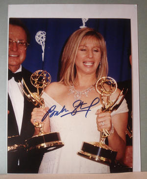 BARBARA STREISAND Authentic autograph on photo