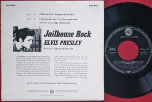 ELVIS PRESLEY - Jailhouse rock + 4 Tysk EP 1957