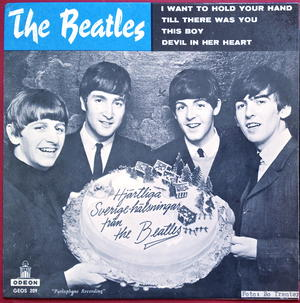 BEATLES - I want to hold your hand + 3 Swe EP 1963