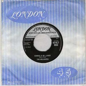"THE DELICATES - Ronnie Is My Lover / Black And White Thunderbird UK 7"" 1958"