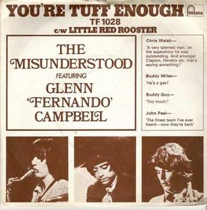 "THE MISUNDERSTOOD - You´re tuff enough 7"" UK med PS"