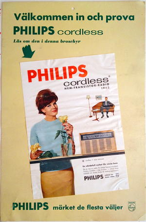 PHILIPS cordless transistor radio 1962
