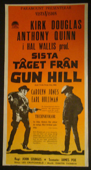 LAST TRAIN FROM GUN HILL (KIRK DOUGLAS, ANTHONY QUINN)