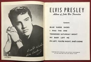 ELVIS PRESLEY - Album of Juke Box favorites Nothäfte 1956