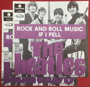 """BEATLES -  Rock And Roll Music PURPLE 7"""" Swe-65 PS ONLY - Archive copy / MINT-!"""