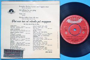 ANITA LINDBLOM - Svenska flicka kysser med öppen mun +3 EP 1958
