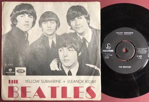 "BEATLES - Yellow Submarine 7"" FAINT image Swe 1966 PS"