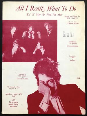 BYRDS / BOB DYLAN - All I really want to do Svenskt Nothäfte 1965
