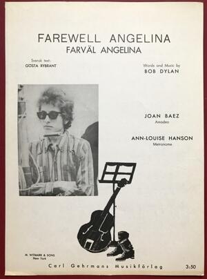 BOB DYLAN - Farewell Angelina 1965 Swedish Sheet music