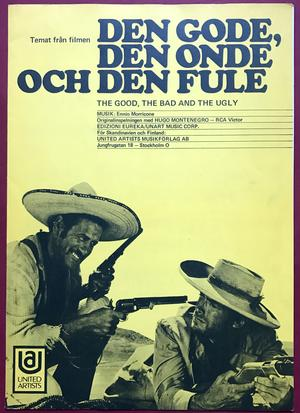 CLINT EASTWOOD - The good, the bad & the ugly Swedish Sheet music 1968