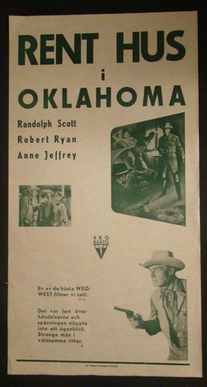 RENT HUS I OKLAHOMA (RANDOLPH SCOTT, ROBERT RYAN, ANNE JEFFREY)