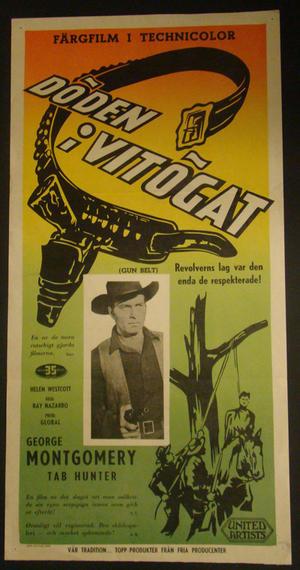 GUN BELT (GEORGE MONTGOMERY, TAB HUNTER, HELEN WESTCOTT)